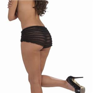 Ruffled Lace Panties Accessory Black
