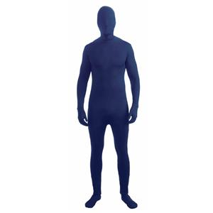 Blue Disappearing Man Skin Suit Adult Costume