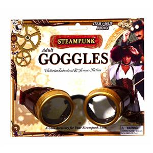 Steampunk Brown Aviator Goggles