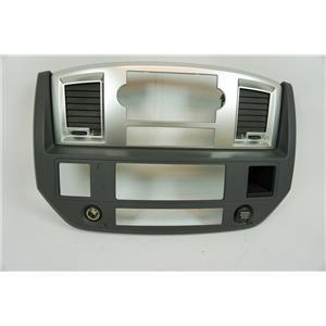 2006-2008 Dodge Ram 1500 Radio Climate Dash Trim Bezel with Vents, 12V, Storage