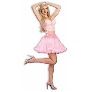 Above the Knee Pink Crinoline