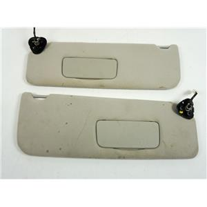 2004-2010 Toyota Sienna Sun Visor Set with Covered Lighted Mirrors