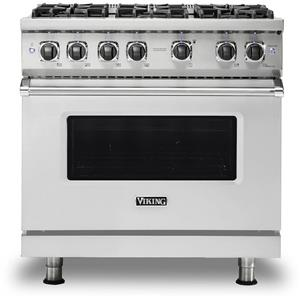 "Viking 36"" Professional 5 Series VGR5366BSS Gas Sealed Burner Range Stainless S."