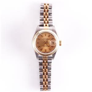 Rolex 18k Yellow Gold & Stainless Steel 1996 Oyster Datejust Ladies Wrist Watch