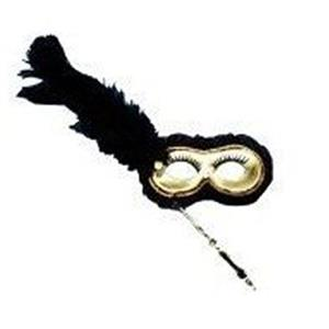 1/2 Mask Black Gold W Stick