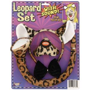 Forum Novelties Animal Costume Set Leopard Nose Tail with Sound Effects