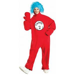Thing 2 Fleece Dr Seuss Adult Costume