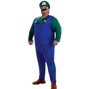 Super Mario Brothers Luigi Costume Plus Size