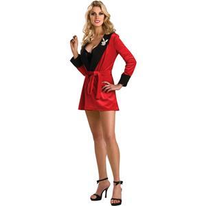 Secret Wishes Playboy Girlfriend Robe, Red Costume Standard