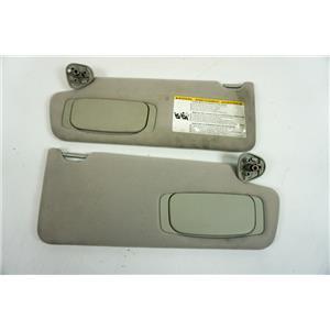 2007-2013 Toyota Tundra Sun Visor Set with Covered Mirrors and Adjust Bars