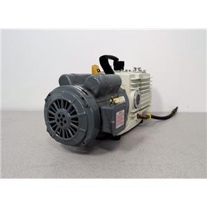 Used: Leybold Heraeus Trivac D16A Rotary Vane Dual Stage Vacuum Pump w/ GE Motor 1 HP