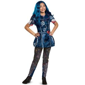 Disney Evie Classic Descendants 2 Costume, Blue, X-Large (14-16)