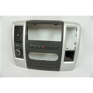 09-12 Dodge Ram 1500 Radio Climate Dash Trim Bezel with 4wd and Tow/Haul Switch