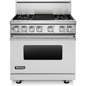 Viking Professional 7 Series 36 Inch Pro-Style Dual-Fuel Range VDR7364GSS Images