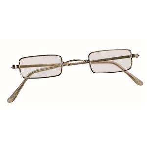 Square Wire Rim Santa Miss Claus Ben Franklin Old Style Specs Costume Glasses