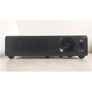 VIEWSONIC PJ400 LCD PROJECTOR  (LAMP HOURS ARE 0)