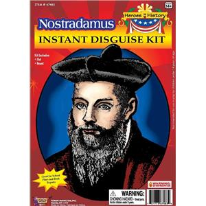 Nostradamus Instant Disguise Hat and Beard Costume Kit