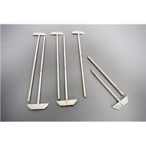 (6)15 Inch 380mm Electropolished 2-Piece Paddles for Varian Dissolution Warranty