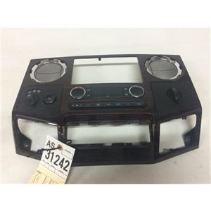 2008-2010 Ford F350 Powerstroke Lariat dash bezel with climate control as31242