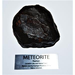 NANTAN IRON NICKEL METEORITE -Genuine-810.7  gram + label & COA# 14349 30o