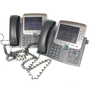 Lot of 2 Cisco CP-7975G IP Phones DEFAULTED