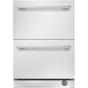 "Thermador Professional Serie 24"" Ice Maker Double Drawer Refrigerator T24UC910DS"