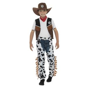 Smiffy's Texan Cowboy Child Costume Boy's Size Medium 7-9