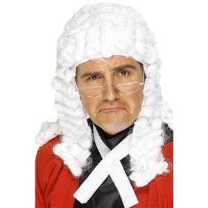 White Judge Founding Fathers Court Dress Wig