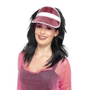 80's Pink Plastic Poker Sun Visor 44946