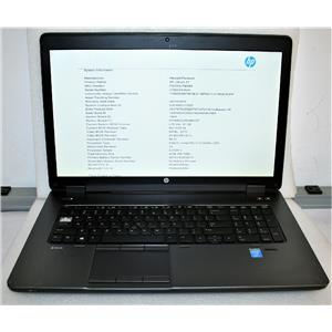 "HP ZBook 17.3"" Core i7 4700QM 2.4GHz 8GB 500GB nVidia K610M Laptop Workstation"