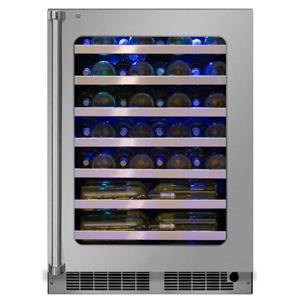 """Marvel 24"""" 5.2 Cu. Ft Stainless Steel Single Zone Wine Refrigerator MP24WSG0RS"""