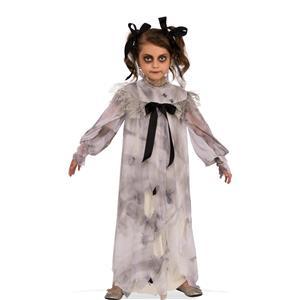Sweet Screams Girls Creepy Nightgown Dirt Spiders Child Costume Dress M 8-10