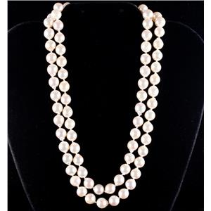 """14k Yellow Gold Baroque Cultured Long Strand Pearl Necklace 35"""" Length"""