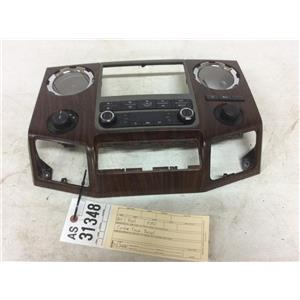 2011-2013 Ford F350 F450 F550 Lariat woodgrain center dash bezel tag as31348
