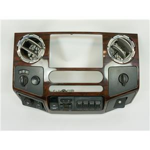 08-2010 Ford F250 F350 FX4 Radio Auto Climate Center Dash Bezel with Vents 4WD