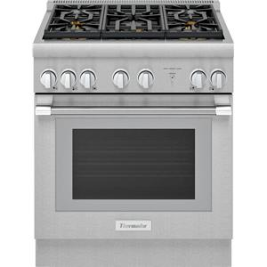 "Thermador Pro Harmony 30"" 5 Star Burners Pro-Style Dual Fuel Range PRD305WHU"