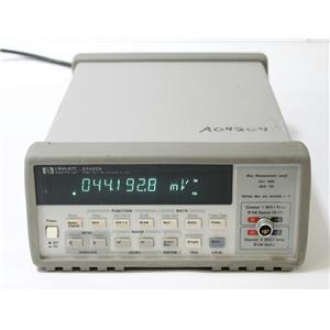 HP Agilent Keysight 34420A 7 1/2 Digit Nano Volt / Micro Ohm Meter