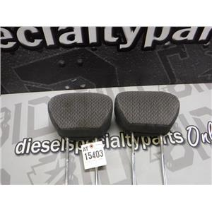 1999 - 2007 FORD F350 F250 EXTENDED CAB FRONT SEAT HEAD RESTS DARK GREY OEM