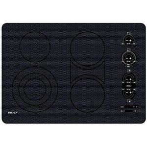 NIB Wolf 30 Inch 4 Heating Elements BLK Smoothtop Electric Cooktop CT30EU