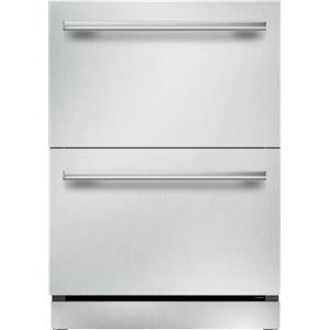 Thermador 24 Inch Quick Chill LED Lighting Double Drawer Refrigerator T24UR910DS