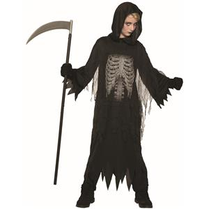 Night Reaper Child Grim Reaper Death Tattered RobeChild Small 4--6
