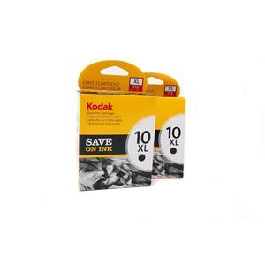 Lot of 2 New Kodak 10XL Black ink Cartridges