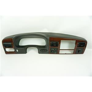 2005-2007 Ford F250 F350 Dash Trim Bezel with 4WD Park Assist Switches Woodgrain