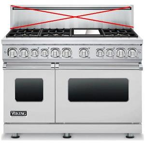 "Viking Professional 7 Series 48"" 6 Burner Stainless Dual-Fuel Range VDR7486GSSLP"