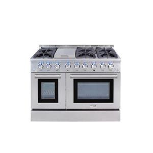 "NIB Thor Kitchen 48"" Professional Style 6 Burner SS Dual Fuel Range HRD4803U"