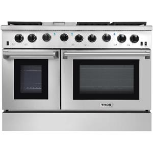 NIB Thor Kitchen 48 Inch 6 Burner & Griddle Gas Freestanding Range LRG4801U