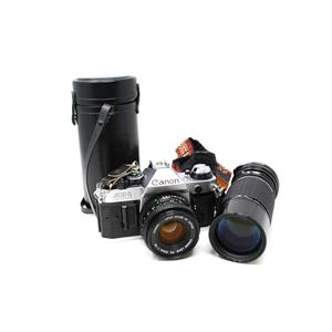Canon AE-1 Film Camera w/ 50mm 1:1.8 Lens and Sigma Zoom-K f=4.5 100-200mm Lens