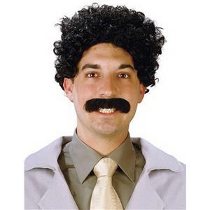 Eurasian Traveler Wig and Mustache Set Borat Movie