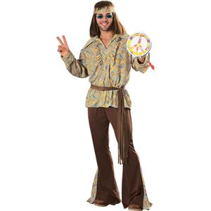 Men's Mod Marvin Adult 60's 70's Hippie Costume Standard Size