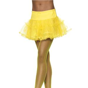 Yellow Tulle Petticoat Crinoline Costume Accessory